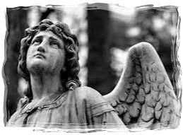mourning angel-framed
