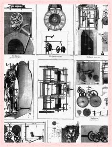 steampunk machines 2-frramed
