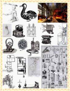 steampunk machines 3-framed