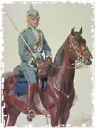 war games german cavalry officer framed
