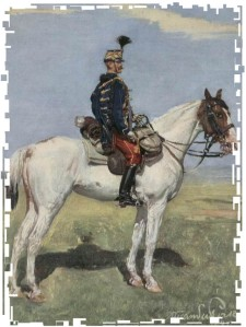 war games mounted officer 2 framed