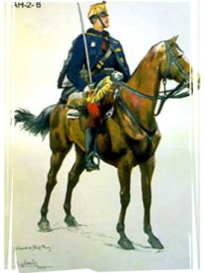 war games- mounted officer framed