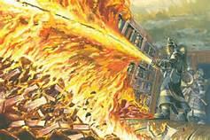 451 fireman burning