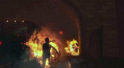 arson night arsonist dancing