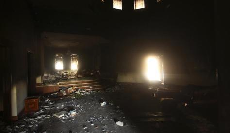 arson ruins dark inside