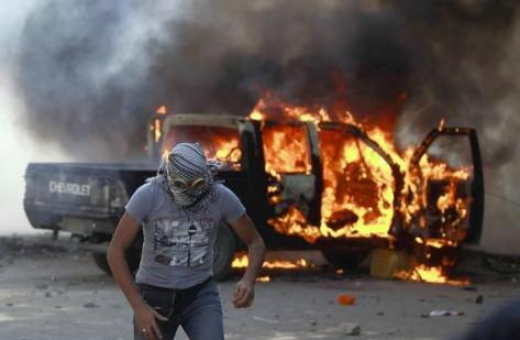 arsonists rioting sunset