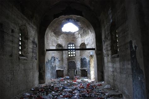 burnt ruin church