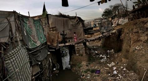 green park slums sewage