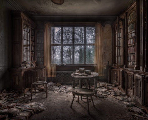 mansion books window reading room