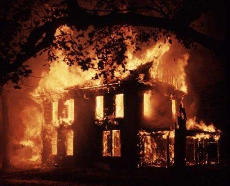 mansion Burning Down