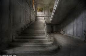mansion dim stairs