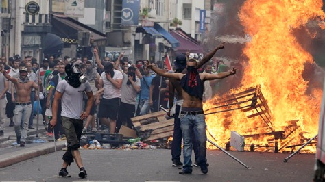 migrant rioting arson twilight