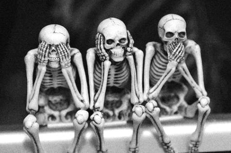 regressive left see no evil Skeletons