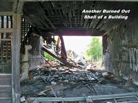 ruins burned out day
