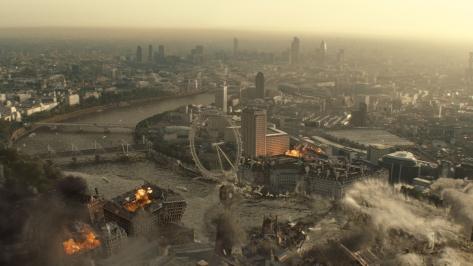 ruins london on fire