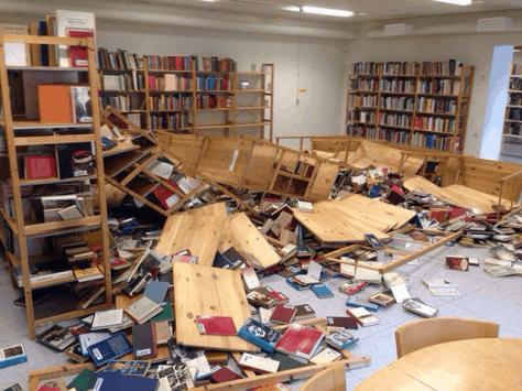 Sweden-Library destroyed