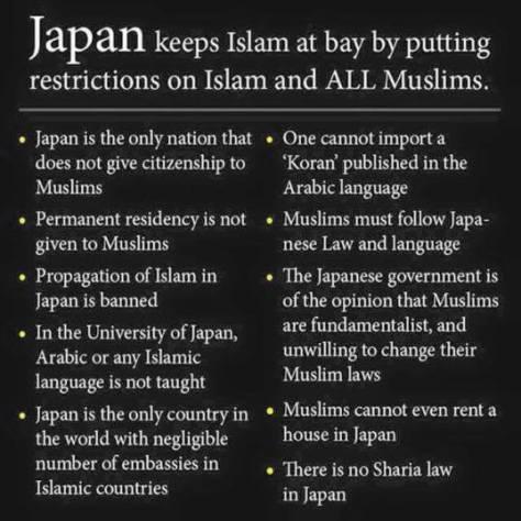 japan banns islam