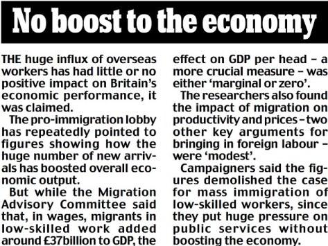 migrant do not boast economy