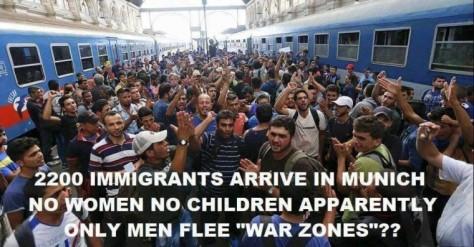 migrant muslim-men-arriving-munich-train