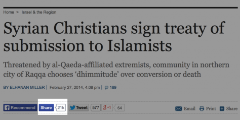Syrian-Christians-sign-treaty-of-submission-to-Islamists-The-Times-of-Israel
